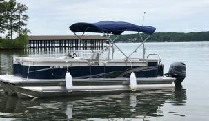 avalon tritoon 150 hp boat