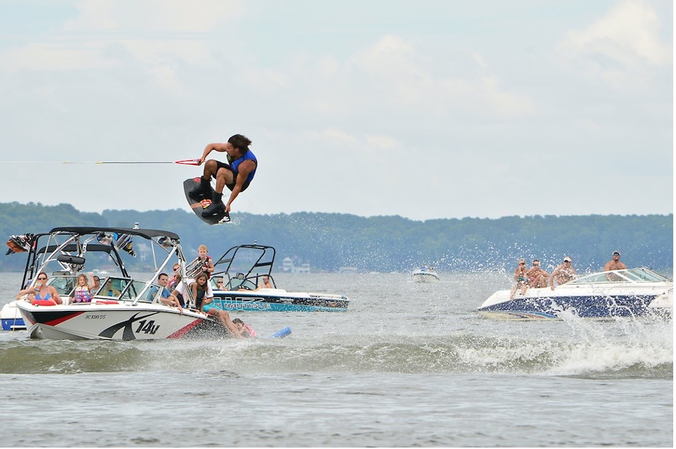 af big air fair on lake Gaston