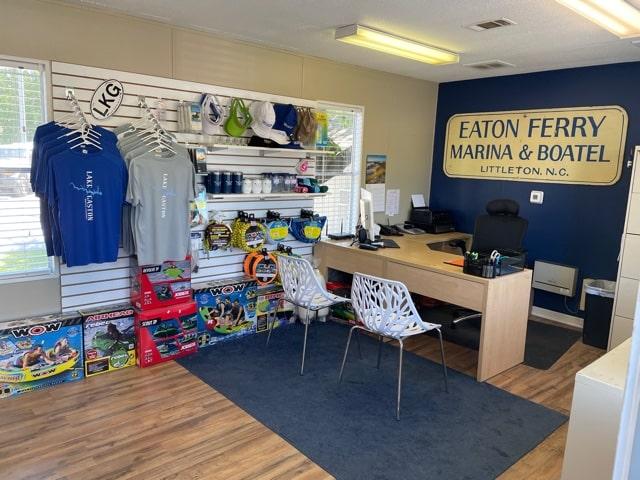 ship store at Eaton Ferry Marina on Lake Gaston