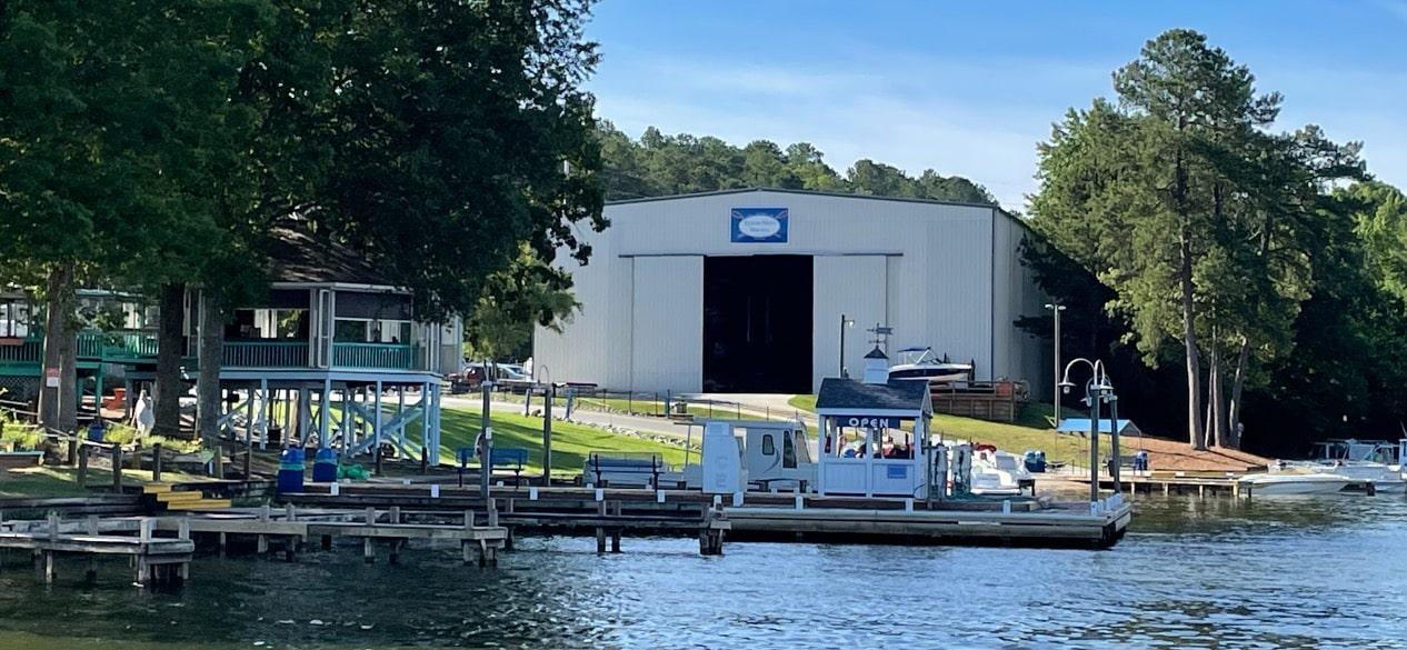 Lake Gaston boat fuel docks at Eaton Ferry Marina