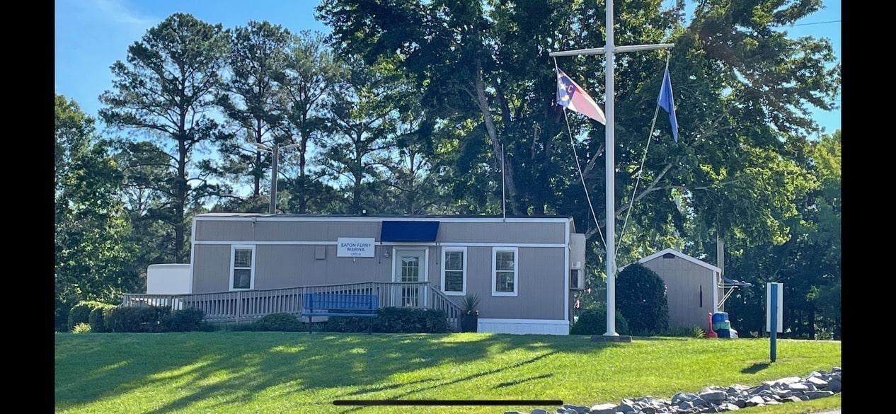 main office at Eaton Ferry Marina Lake Gaston