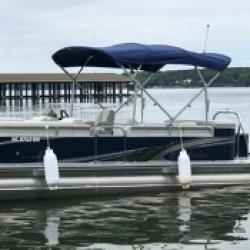 2020 Avalon tritoon 150 hp rental at eaton ferry marina